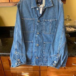 Denim shirt type jacket